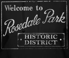 Rosedale Rark sign - Park Players Detroit