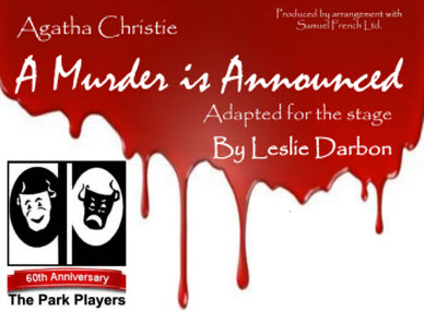Park Players Detroit - A Murder Is Announced